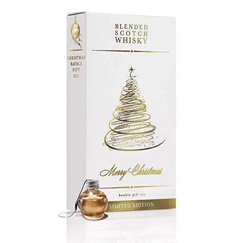 6 Weihnachtskugeln mit je 50 ml Blended Scotch Whisky | Hochwertiges Geschenk Set mit Blended Scotch in Kunststoff Weihnachtskugeln | Originelles Whisky Geschenk Set