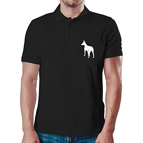 Eddany American Hairless Terrier silhouette Polo-Hemd -
