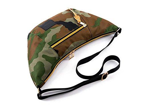 Applicato Borsa Unisex Canvasshopper Tracolla Borsa Vintage Portafoglio 7 Colori Camouflage Selezionabili