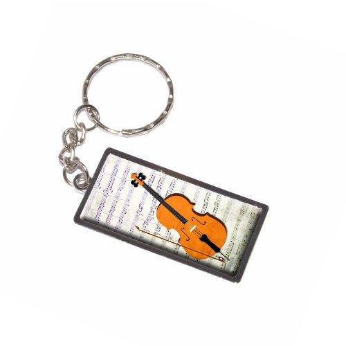 Cello–Tabelle Musik Noten Notenschlüssel Schlüsselanhänger Ring