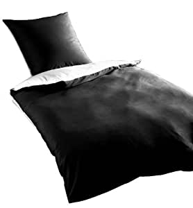 Rally Fashion Couvre Lit Satin 135 x 200 cm Noir