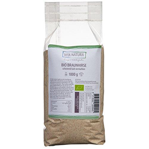 Braunhirse 1000g | Kalt vermahlen | Zertifizierter Bio Anbau | Glutenfrei
