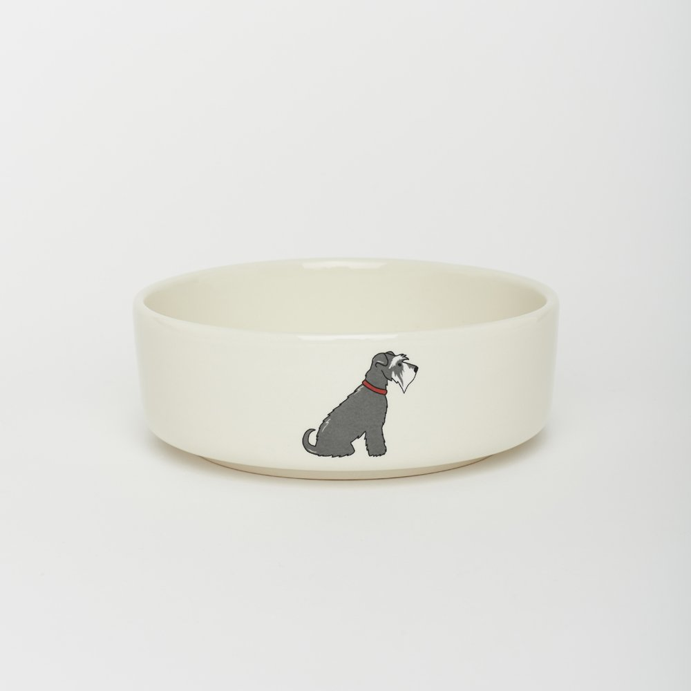 Sweet William Schnauzer small dog bowl (large also available)