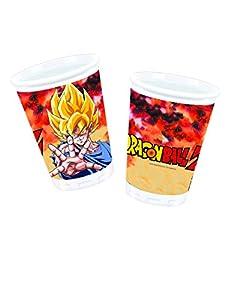 comogiochi vaso plástico 200ML Dragon Ball Z, Multicolor, 5cg82008