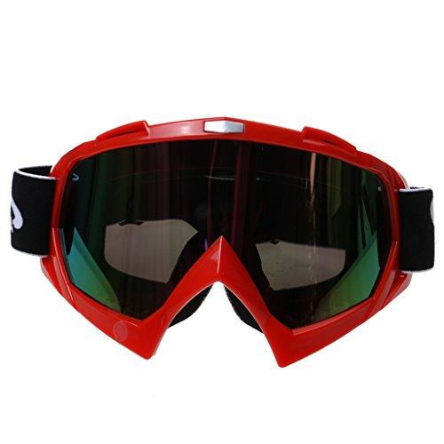 Motorrad Crossbrille Motocrossbrille Schutzbrille Brille Dirt Bike Radfahren Kopfbedeckung Eyewear - Rot