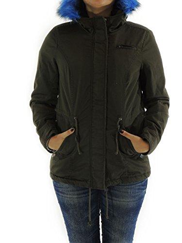 Parka Only giacca donna con cappuccio bordato LORCA M