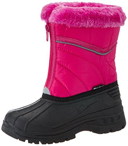Playshoes Kinder Winter-Stiefel, gefütterte Schneestiefel mit Reisverschluss - Fell Rosa Stiefel Winter