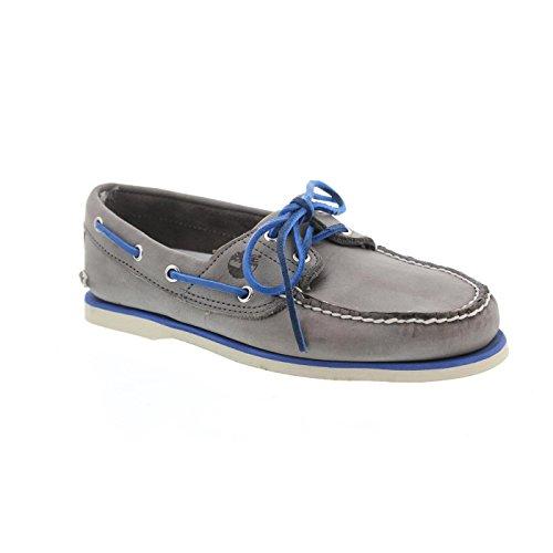 TIMBERLAND - Classic 2Eye - Herren Bootsschuhe - Grau Schuhe in Übergrößen, Größe:49