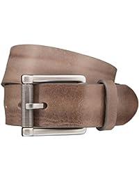 STRELLSON ceinture hommes ceinture en cuir gris