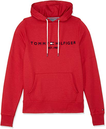 Tommy Hilfiger Herren Tommy Logo Hoody Sweatshirt, Rot (Haute Red 611), XX-Large Roten Pullover Hoody