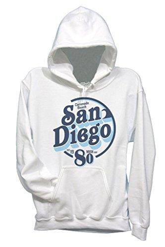 Sweatshirt San Diego 1980 Coronado Beach - Berühmt by Mush Dress Your Style - Baby-S-Weiß