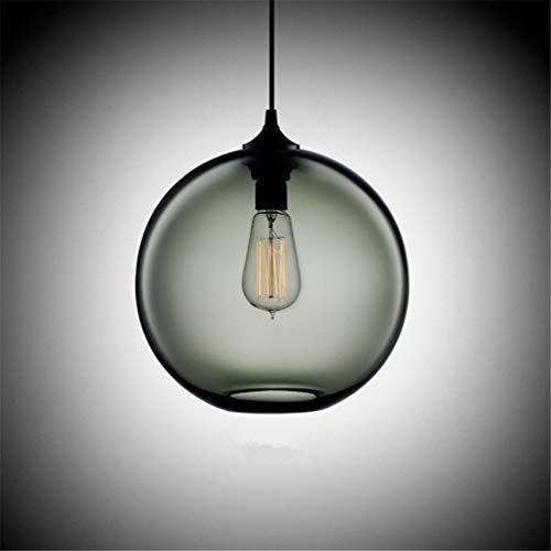 Plafoniera Paralume Lampadari Lampade A Sospensione A Sfera Industriale Vintage A Soffitto In Vetro, Diametro 30 Cm, Infissi Per Cucina, Sala Da Pranzo, Bar Caffetteria