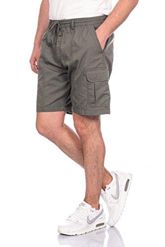 Cargo Plus Größe Shorts (VT-Fashion Herren Cargo Shorts mit Dehnbund - mehrere Farben ID513, Größe:XXL;Farbe:Dunkelgrau)
