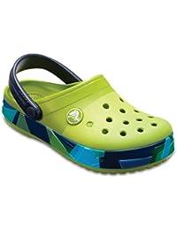 Crocs Unisex Kids Crocband Prismatic Clogs K Volt Green