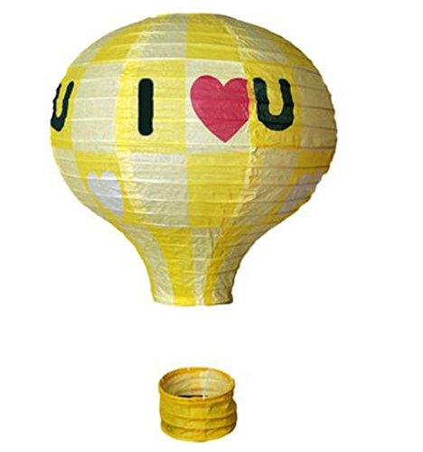 (Black Temptation Geburtstagsparty/Weihnachten/Ostern/Mall Dekoration hängen Papier Laterne Heißluftballon (Gelb))