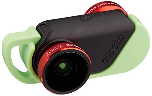 olloclip 4-IN-1 Photo Lens + olloCase for iPhone 6 Plus - Lens: Red/Black - Case: Matte Clear/Dark Gray
