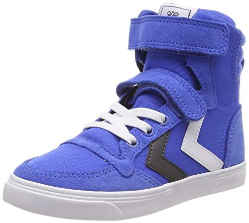 hummel Unisex Kinder Slimmer Stadil HIGH JR Sneaker (Shoes Suede Kinder-blue)
