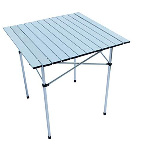 zyy Faltender im Freien kampierender Tisch, Aluminiumtischplatte, Picknicktisch