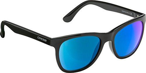Cressi karma, occhiali da sole, prodotti in italia, nero lucido/blu, taglia unica