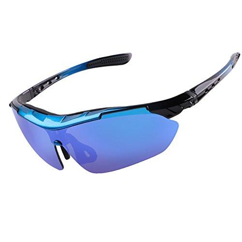 aa5c16f653a4f1 DFGHJJOP Reitbrille Radsport-Brillen Polarisiertes Licht UV400 Schutz Sport- Sonnenbrillen Winddicht HD Beschichtung Reiten