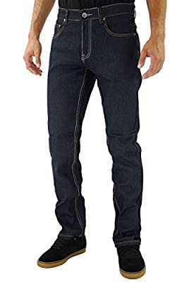 Kayden K SS601 2Tone Stitch Slim Fit Jeans Blue