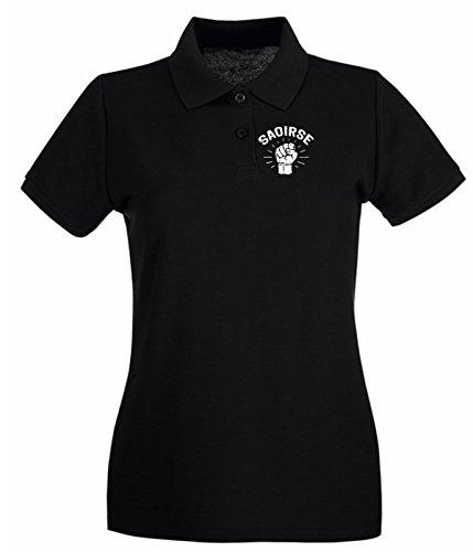 Cotton Island - Polo pour femme TIR0205 st patricks day dark tshirt Noir