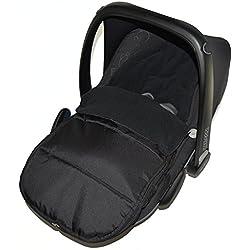 Chancelière Siège auto/Cosy orteils Compatible avec Kiddy Evo Lunafix Black Jack