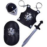 Kinder Ritter Rüstung Set in schwarz