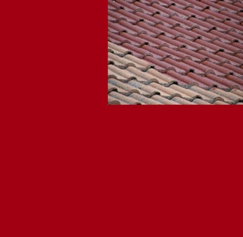 1L Ziegelfarbe Dachfarbe Dachbeschichtung Dachversiegelung in Tomatenrot Dachrenovierung Metalldach Blechdach Flachdach Farbe Beschichtung Anstrich Ziegel Dach