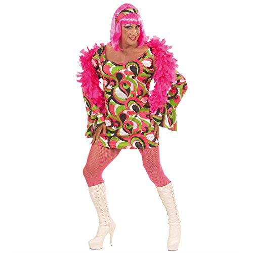 Travestie Kostüm Drag Queen Männerkleid Männer Kleid Travestiekostüm 70er Jahre Party grün