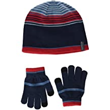 Columbia Youth Hat and G Guantes, Niños, Multicolor (Blue Heron), Talla Única