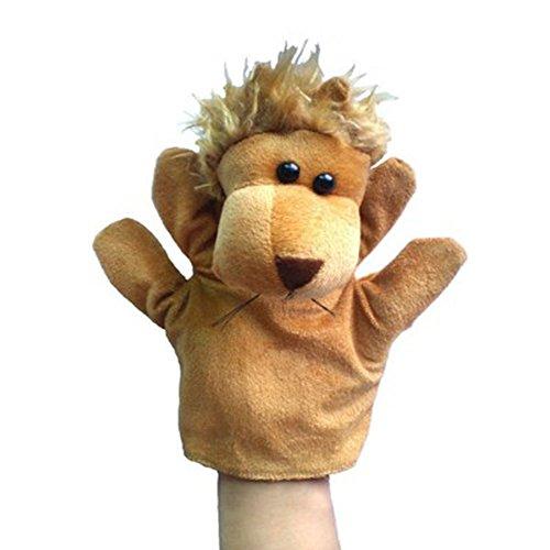 León lindo de la felpa del niño marionetas de mano