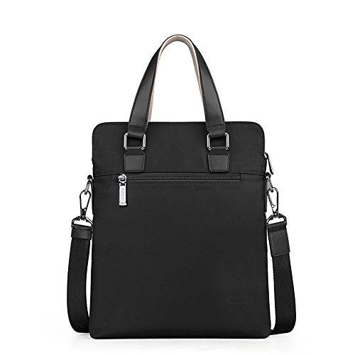 Padieoe Modern Umhängetasche, Laptop-Tasche, Computer-Tasche, aus Segeltuch, für Männer und Frauen Blau Schwarz