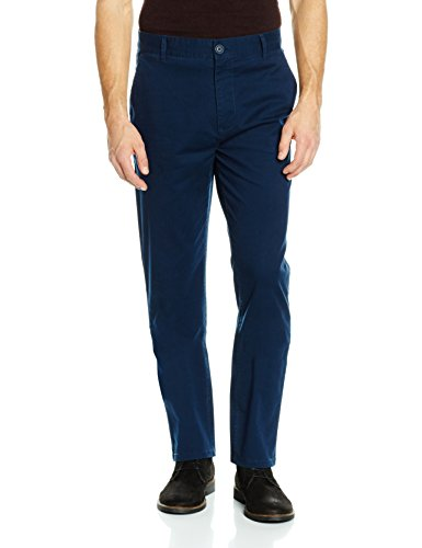 James Tyler Herren Chinohose, Navy, 34/32 James Anzug