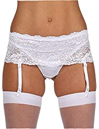 20ef1cb2898 Classified BLACK RED WHITE IVORY DEEP LACE SUSPENDER BELT S 6-8/M 10