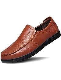 ad08b499486 DAN Mocasines Para Hombres Mocasines Casuales Ligeros Suela Blanda Calzado  De Conducción Pisos De Cuero Zapatillas De Barco Zapatillas…