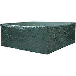 oule–Funda protectora Conjunto de muebles de jardín de polietileno (PE) 120g/m² con 16ojales y 8metros larga cordel (8mm de espesor) 200x 160x 70cm en verde–piensen en sus muebles de jardín.