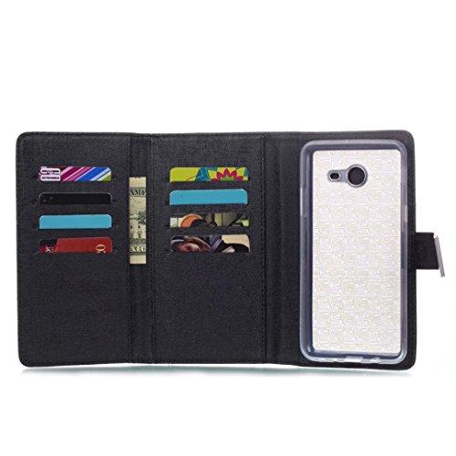 Cross Lines Texture PU Leder Wallet Case mit freistehenden TPU Back Cover Card Slots für Samsung Galaxy J5 2017 ( Color : Black ) Black