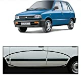 #5: UNO AUTOMOTIVES Car Door Side Beading - Maruti 800 Material: High Grade Polypropylene (PP) Thermoplastic with 3M Adhesive Tape, Colour: Matte Black Setof 6
