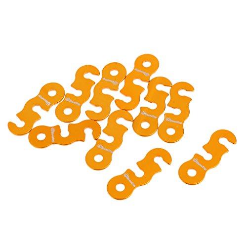 Sharplace 10 Piezas Tensor Ajustador de Cuerda Sujetador de Cordón para Tienda Acampada Camping Accesorios - Oro