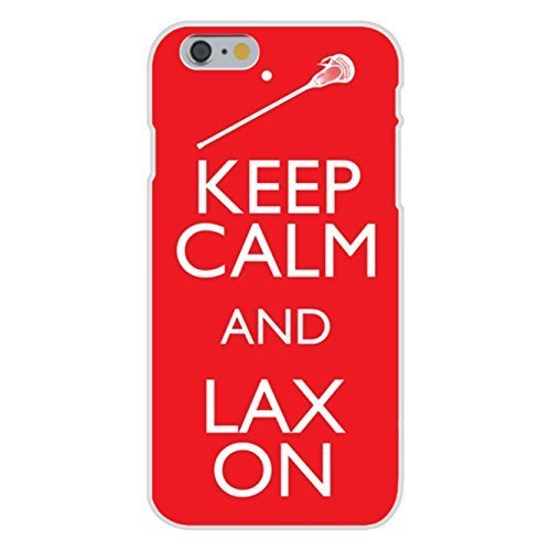Apple iPhone 6 Custom Case White Plastic Snap On - Keep Calm and LAX (LaCrosse) On Red