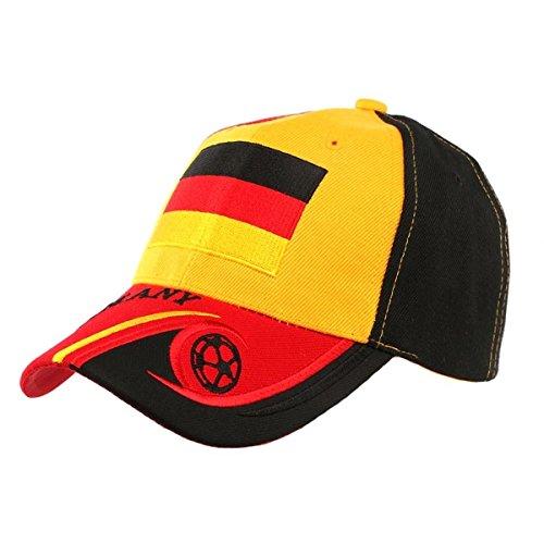 País–Gorra fútbol Alemania selección para hombre/mujer Amarillo amarillo Talla:talla única