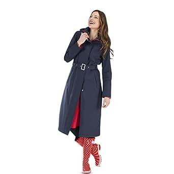 happyrainydays damen langer regenmantel mit kapuze outdoor regenjacke 100 wasserdicht. Black Bedroom Furniture Sets. Home Design Ideas