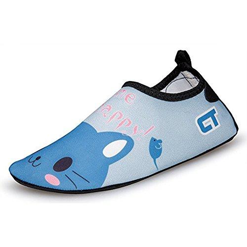 SITAILE Aquaschuhe Barfuß Schuhe Schwimmschuhe Badeschuhe Wasserschuhe Surfschuhe Sportschuhe für Kinder Katze EU 32-33