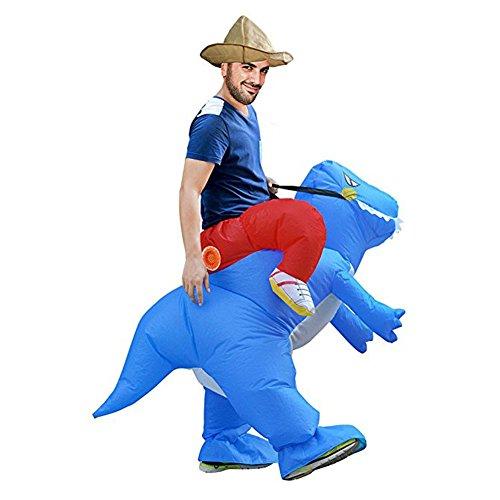 Hallowmax Erwachsene Dinosaurier Reiten Unisex Aufblasbares Kostüm Carry-Me Halloween Karneval