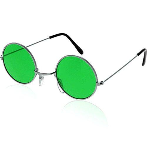 German Trendseller® - Brille John Lennon ┃ Hippie Flower Power ┃ (John Lennon Brille Kostüm)