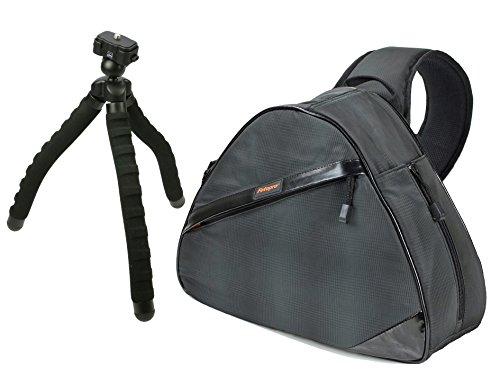 Foto Tasche Kamera Bag Fotorucksack ROLLEI SLING Tasche mit Reise Stativ und Stativtasche