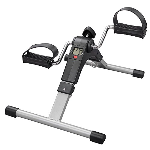 ReaseJoy Foldable Mini Arm and Leg Pedal Exerciser with Digital LCD Display Fitness Bike Home Cycle Gym
