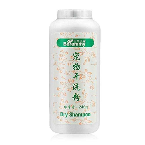 JSMeet wasserloses Shampoo für Hunde Katzen, Hundetrockenes Shampoopulver, kein ausspülbarer trockener Badepulverreiniger, Entfernen von Haustiergeruch und Verhindern des Erkältens -