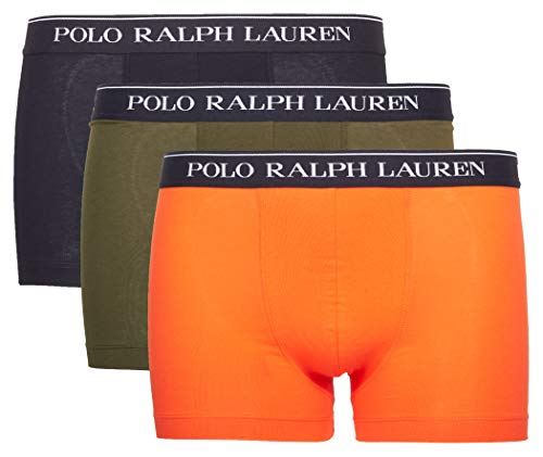 Polo Ralph Lauren Herren Boxer Shorts Trunk 3er Pack - Baumwolle, Mehrfarbig M (Medium)